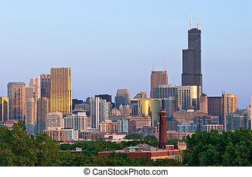 ciudad, de, chicago.