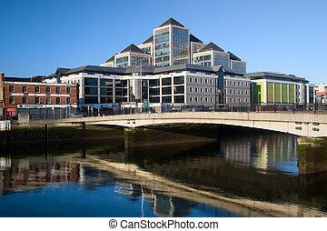 ciudad, de, dublín