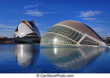 Ciudad de las Artes y las Ciencias, Valencia, Spain, March...