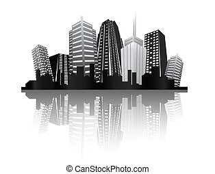 ciudad, diseño abstracto