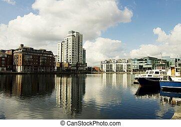 ciudad, dublín, paisaje