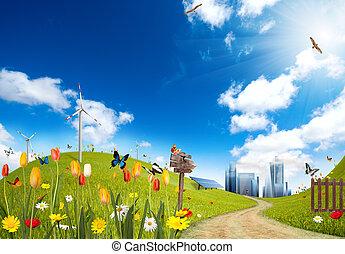 ciudad, ecológico
