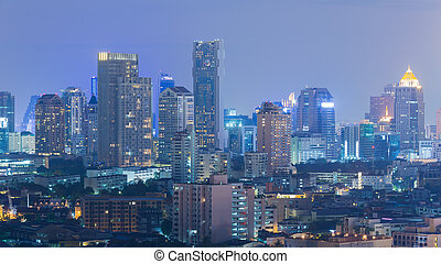 ciudad, edificio de oficinas