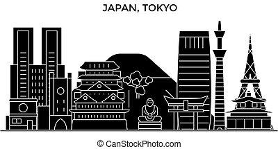 ciudad, edificios, viaje, tokio, vistas, aislado, señales,...
