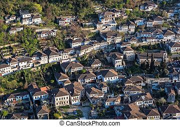 ciudad, en, albania