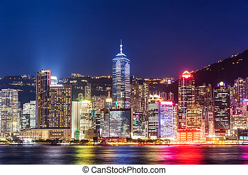 ciudad, en, hong kong
