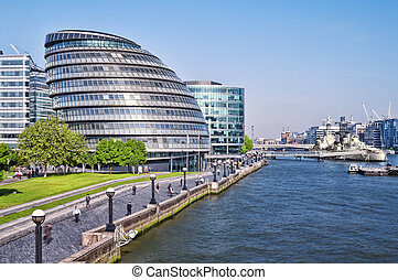 ciudad, exposure), (long, londres, torre, bridge., vestíbulo, vista
