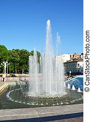 ciudad, fuente, centro, kharkiv