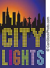 ciudad grande, luces