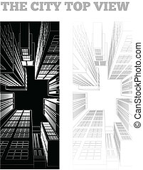 ciudad, ilustración