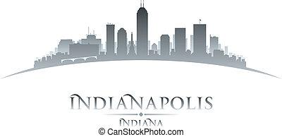 ciudad, indianapolis, silueta, contorno, plano de fondo,...