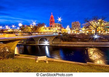 ciudad, kansas, navidad