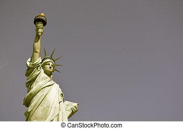 ciudad, -, libertad, york, estatua, nuevo