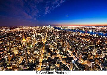 ciudad, libertad, york, w, nuevo, torre, manhattan, jersey