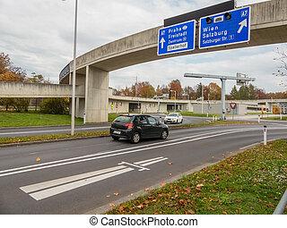 ciudad, linz, austria, carretera