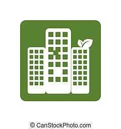 ciudad, marco, cuadrado, ecología