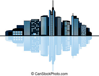 ciudad, moderno