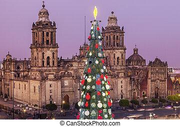 ciudad, navidad, méxico