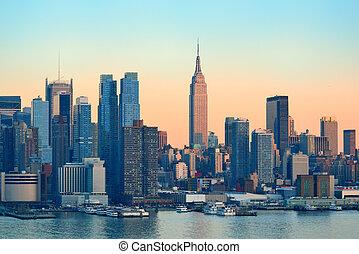 ciudad nueva york, ocaso