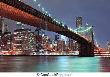 ciudad nueva york, puente de brooklyn
