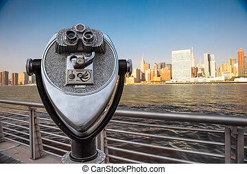 ciudad nueva york, vista
