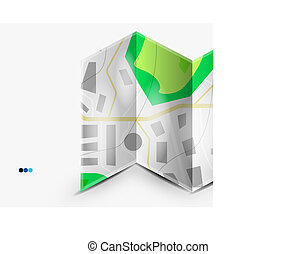 ciudad, página, copyspace, mapa