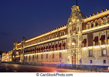ciudad, palacio nacional, méxico