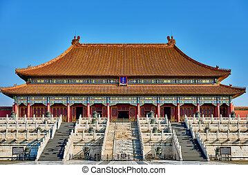 ciudad, palacio, prohibido, taihedian, armonía, imperial, ...