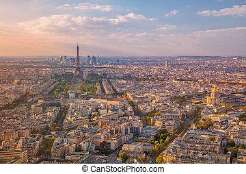 ciudad, paris.