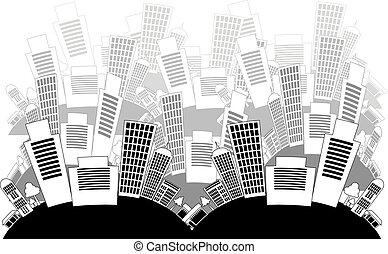 ciudad, plano de fondo