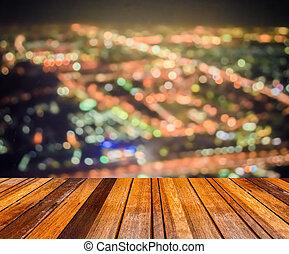 ciudad, resumen, bokeh, plano de fondo, luz