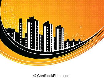 ciudad, resumen, plano de fondo