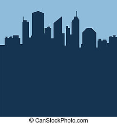 ciudad, resumen, vector, ilustración, fondo.