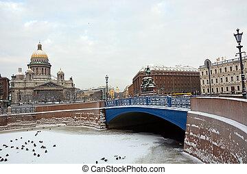 ciudad, russia-, 25, isaac, enero, s., símbolo, 25:, famoso...