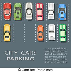 ciudad, terreno, estacionamiento