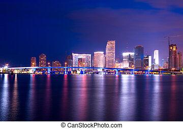 ciudad, unido, florida, puerto, céntrico, miami, acceso, ...
