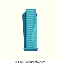 ciudad, urbano, residencial, moderno, ilustración, elemento, vector, plano de fondo, edificio, blanco, rascacielos, paisaje