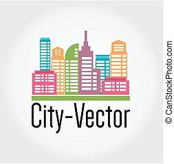 ciudad, vector