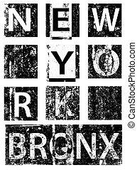 ciudad, vectors, camiseta, tipografía, york, gráficos, nuevo