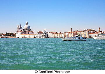 ciudad, venecia, marco, san, palangana, vista