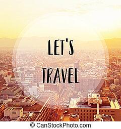 ciudad, viaje, dejar, s, kyoto