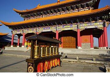 ciudad vieja, budista, dali, tres, yunnan, china, pagodas, ...