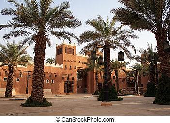 ciudad, viejo, riyadh, -, arabia), diriyah, (saudi
