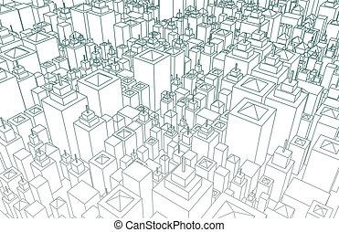 ciudad, wireframe