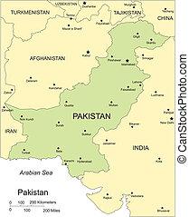 ciudades capitales, circundante, mayor, paquistán, países