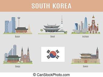 ciudades, corea del sur