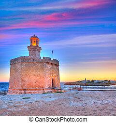 Ciutadella Castell de Sant Nicolas sunset Castillo San...