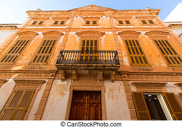 Ciutadella Menorca downtown city of Ciudadela