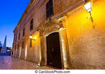 Ciutadella Menorca Major street in downtown Ciudadela
