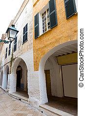 Ciutadella Menorca Ses Voltes arches Ciudadela Balearics -...